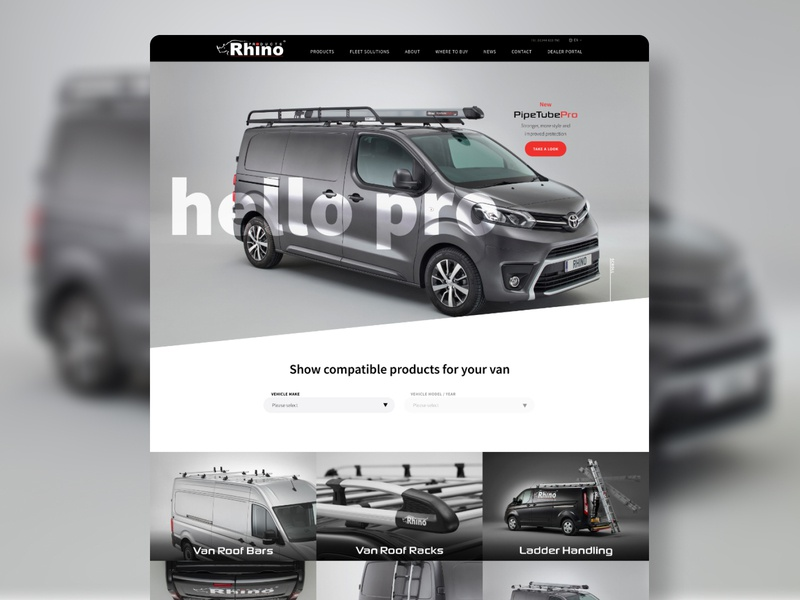 Van Accessories Website web ux ui web design website design limely