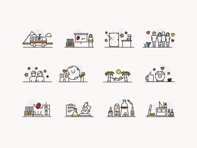 Iconography set iconography graphic iconography branding illustration ui icon design dribbble limely