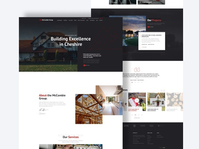 Construction Company Website uk constructor construction website design web design website illustration design dribbble limely