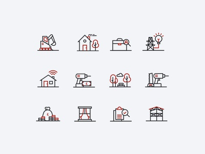 Construction Icons vector illustration icon limely