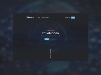 Client First Solutions - Video Background Website digital communication dark ui dark background video branding design limely