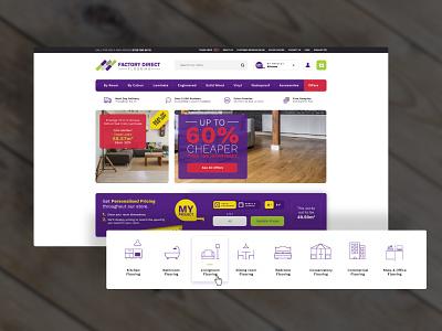 Ecommerce site - Flooring Specialist icon vector magento 2 magento design