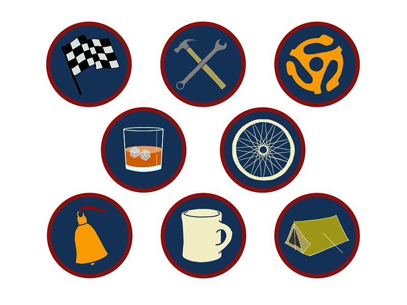 Merit Badges identity badge graphic designer designer design illustrator illustration austin artist austin illustrator austin graphic design austin designer