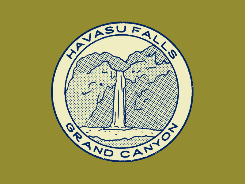 Havasu Falls national parks grand canyon havasu falls identity branding logo designer logo austin graphic designer austin texas austin designer