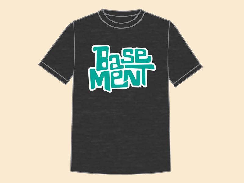 Basement x Lollapalooza Shirt tshirt tshirt design austin graphic designer hand drawn handtype austin illustrator t shirt design austin designer