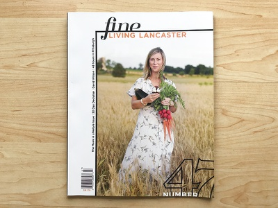Fine Living Lancaster 47 design director creative director magazine print designer print layout print design print magazine designer typography austin designer magazine design