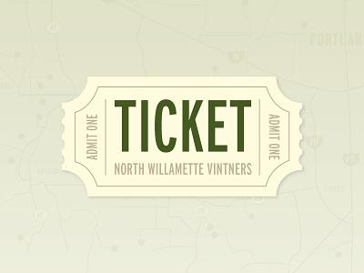 North Willamette Vintners Ticket texture green
