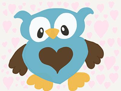 Love Owl owl love doodle paper 51 ipad pro
