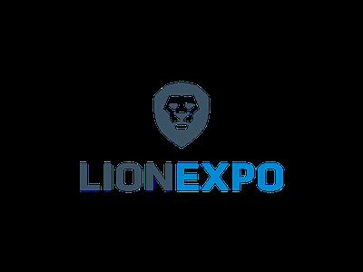 Logo Lionexpo lion logo animal corporate expo trade