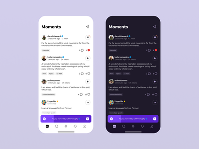 Social Voice Messaging App graphic design figma theme ux ui user experience user interface