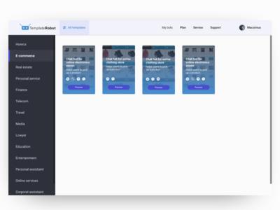 Admin panel chat bot chatbot dashboard interface admin