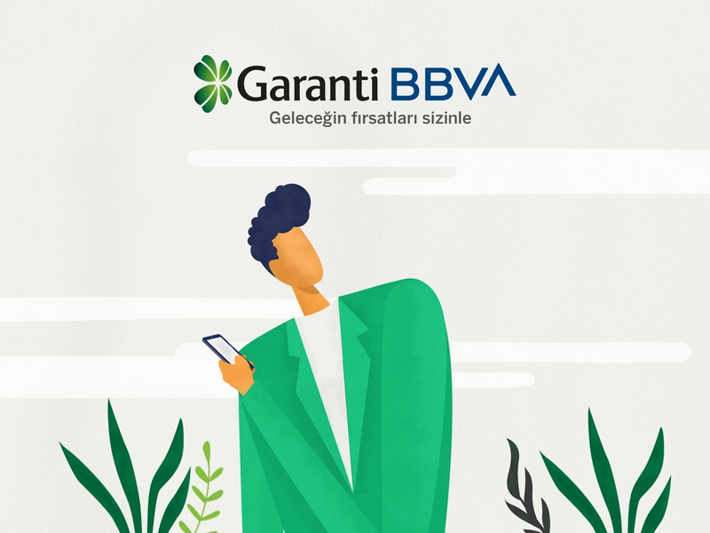 Garanti BBVA - Editorial Illustration Series editorial illustration education cover illustration digital man flower illustrator illustration art character design editorial illustration