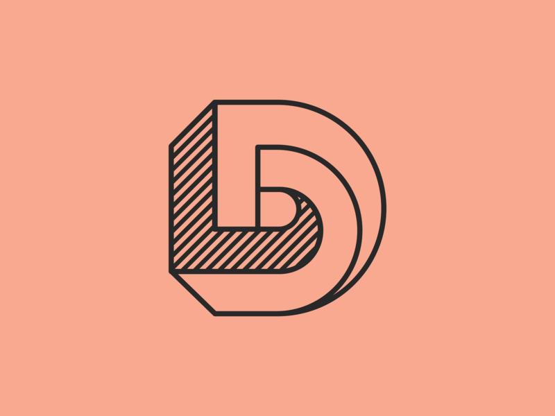 D logotype iconset icon branding logo illustration type monogram typography