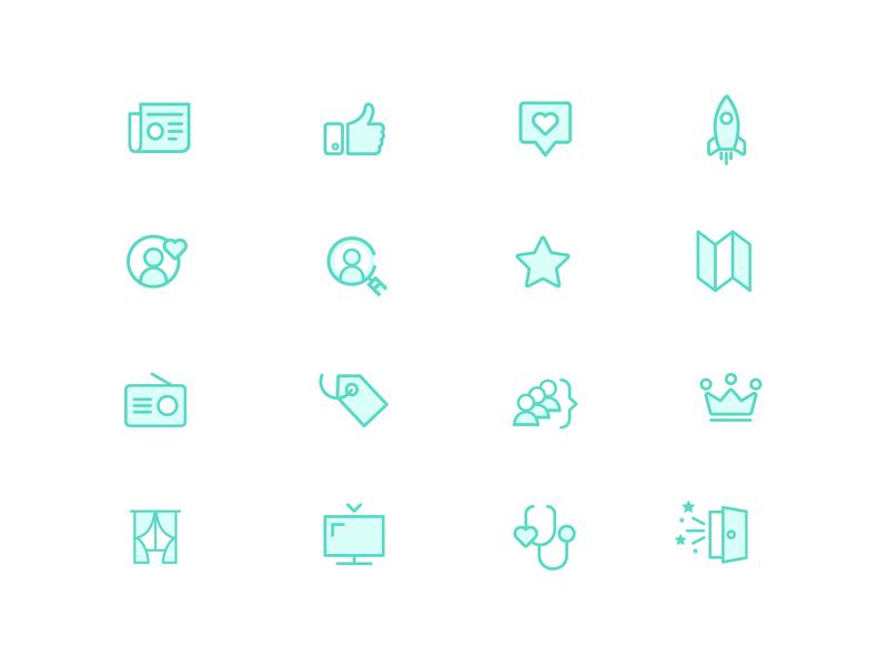 Kimola Icon Set design vector identity pictogram logo illustrator brandidentity branding icon collection grid iconset icon