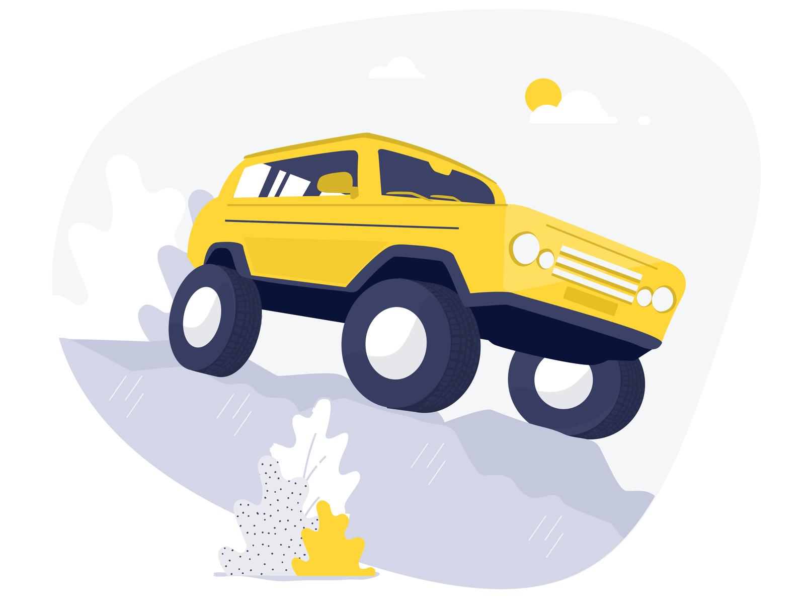 Arabam.com Illustrations travel car handmade illustration ui