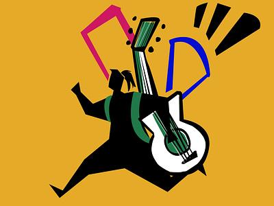Music is the Answer - Icon org agency branding illustration art branding visual content editorial art artwork storytelling advertising icon logo music art rights musician music digital artist illustration