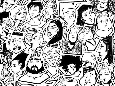 People of London. Part1 explainer advertising charactedesign illustration art storytelling artwork editorial art visual content digital artist illustration
