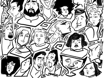 People of London. Part2 explainer illustrator charactedesign agency branding storytelling london faces people editorial art visual content digital artist illustration
