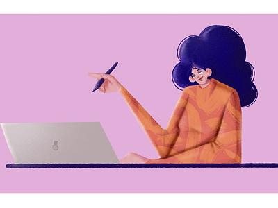 At Work! illustrator advertising agency branding charactedesign artwork illustration art storytelling editorial art visual content digital artist illustration