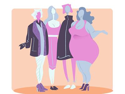 Girl talks photoshop editorial art artwork digital artist illustration art director design design illustation women