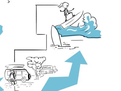 Explainer illustration / Visual story