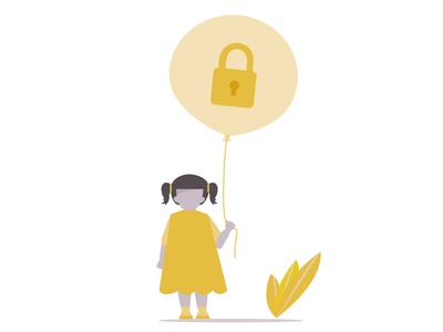 Child right to privacy - Illustration for presentation