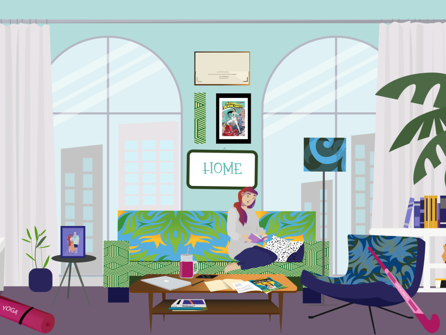 Room project for a Pitch / presentation by Manuela Fiori on