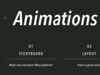 ANIMATION WALKTHOUGH / ADVICE