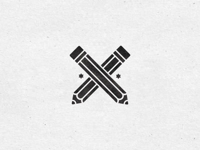 Pencil pencil icon illustration fun star grungy black white random