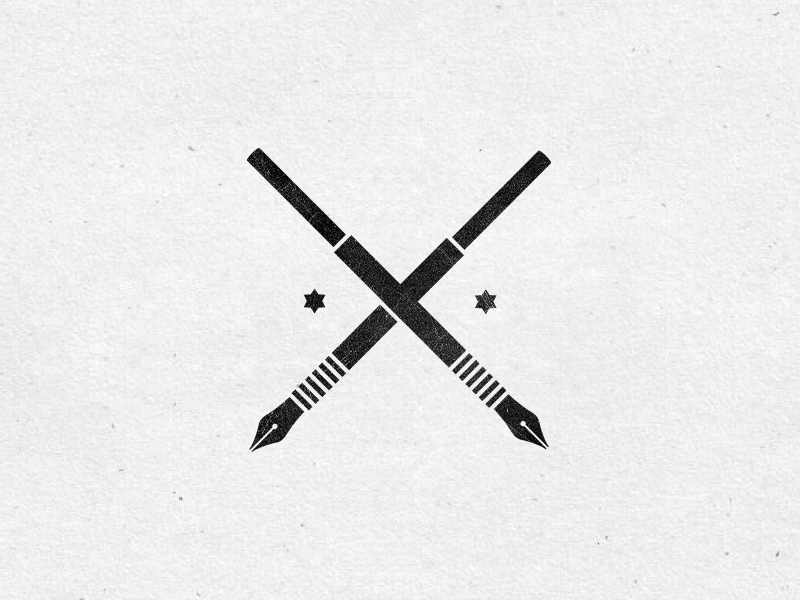 Pentool pentool pencil art pen illustration mini crest