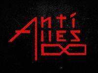 Anti-Alles typography lettering red black manuel krueger krüger