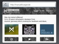 Personal Website mockup V1