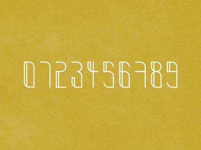 Lofty-Numbers lofty font alphabet manuel krueger krüger numbers