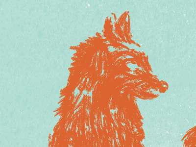 We Were Monsters & Detectives illustration film poster wolf