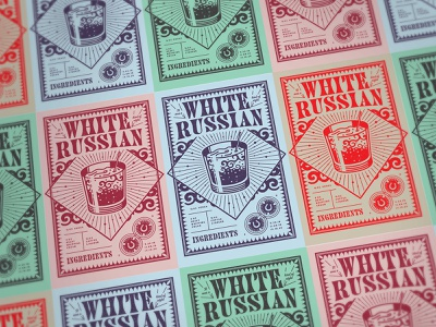 It Was a White Russian Kind of Night kentucky louisville design print wedding show poster poker chips vector poster illustration drink beverage russian white cocktail white russian