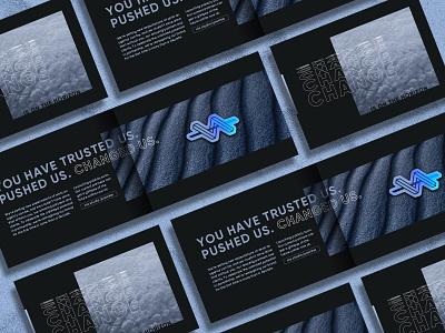 You've Changed Us - Direct Mailer rebrand brand identity gradient sticker design branding agency brand launch branding print design print mailer