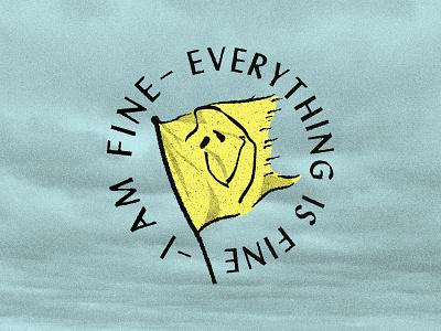 Keep Flyin' design kentucky badge vector louisville flag design fine yellow texture illustration smile face smiley face smiley flag