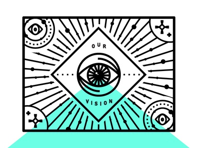 Our Vision psychic space stars illustration eye vision