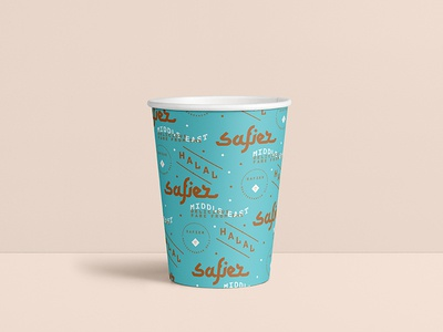Safier Cup branding hala safier restaurant cup package package design packaging