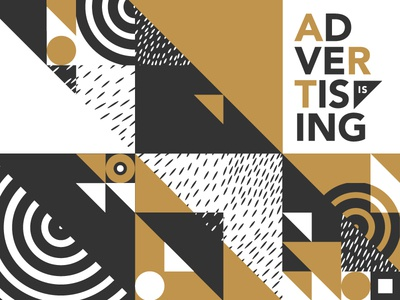 Addy's Pattern triangles pattern art advertising geometric aiga louisville the addys louisville aiga