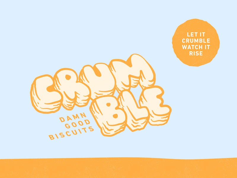 Crumble illustration design kentucky louisville doodle storefront pattern shop food biscuits lettering logotype logo branding crumble