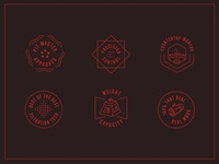 Arden Badges illustration icon stars kitchen wood bbq smoker badge