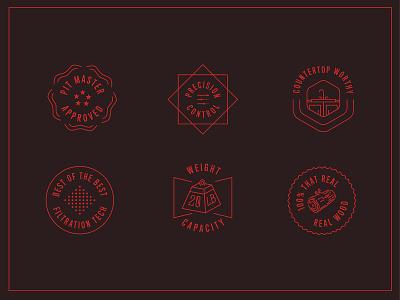 Arden Badges design branding vector badge design illustration icon stars kitchen wood bbq smoker badge