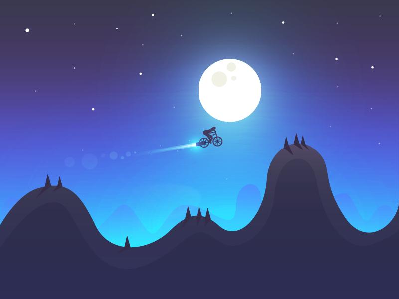 Rocket bike night rocket bike moon game