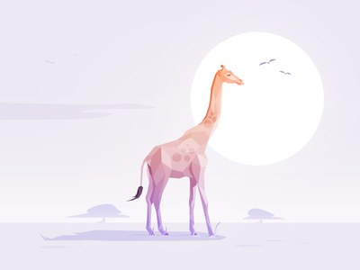 Mr. Giraffe giraffe africa animal low poly illustrator