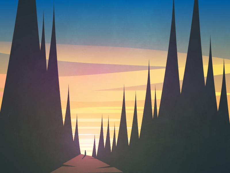 October afternoon landscape sunset