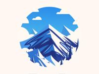 Berg web illustration landscape mountain