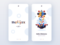 Molijox concepts logo flower illustraion mobile ui webdesign web