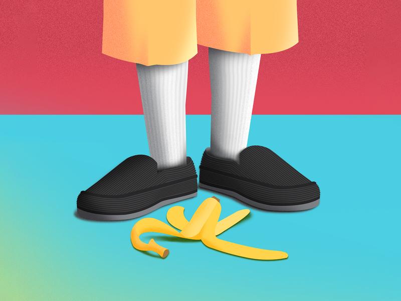Don't Get Caught Slippin' illustrator photoshop illustration