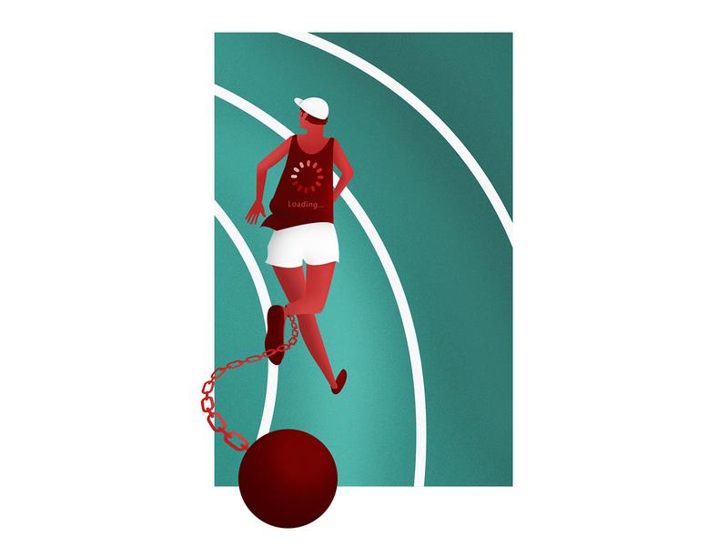 Netflix Throttling Streaming Speeds netflix illustrator photoshop editorial illustration illustration